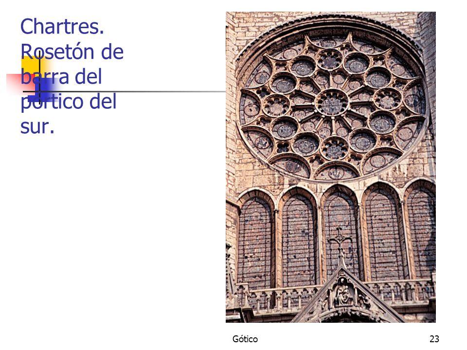 Gótico23 Chartres. Rosetón de barra del pórtico del sur.