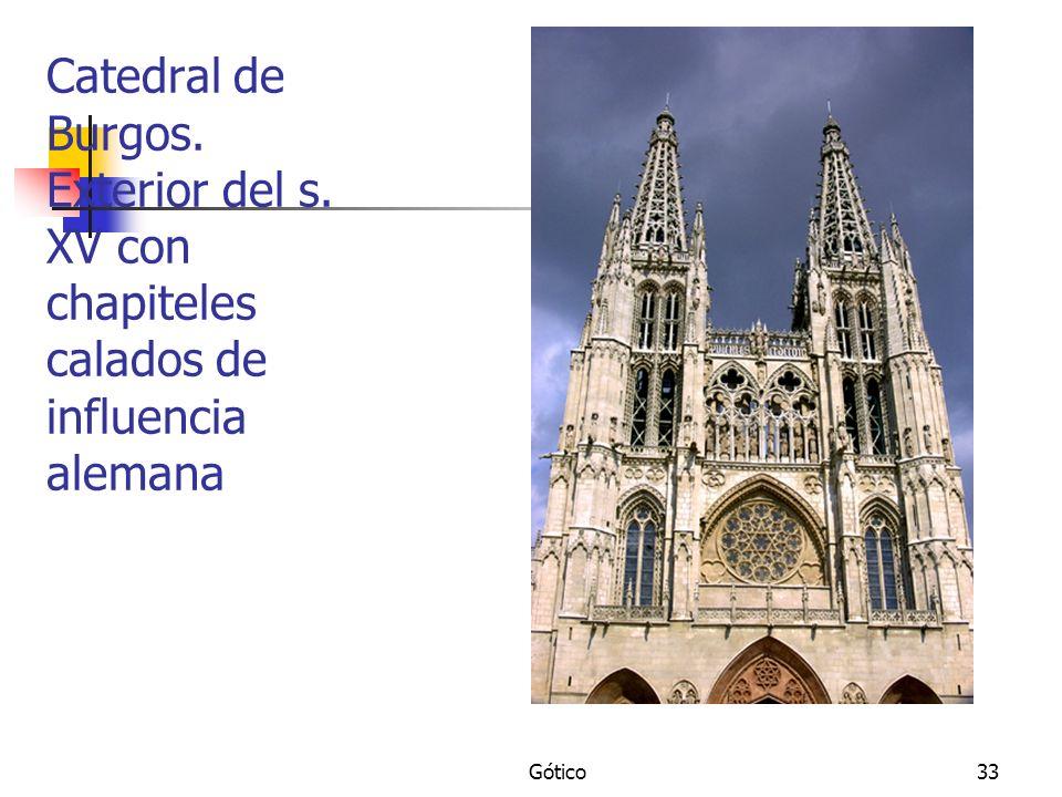 Gótico33 Catedral de Burgos. Exterior del s. XV con chapiteles calados de influencia alemana