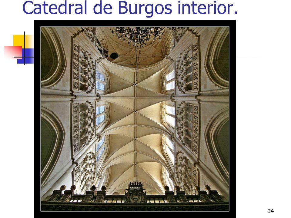 Gótico34 Catedral de Burgos interior.