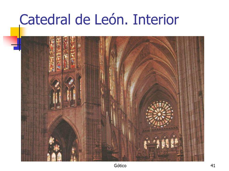 Gótico41 Catedral de León. Interior