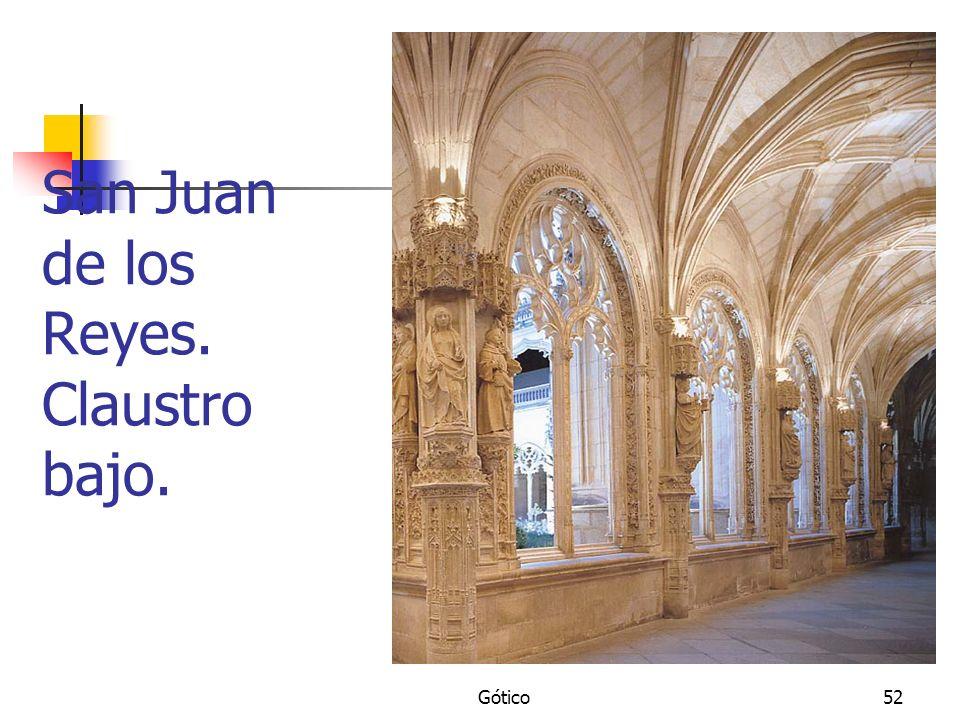 Gótico52 San Juan de los Reyes. Claustro bajo.