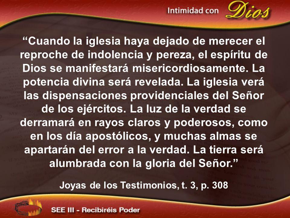 Cuando la iglesia haya dejado de merecer el reproche de indolencia y pereza, el espíritu de Dios se manifestará misericordiosamente. La potencia divin