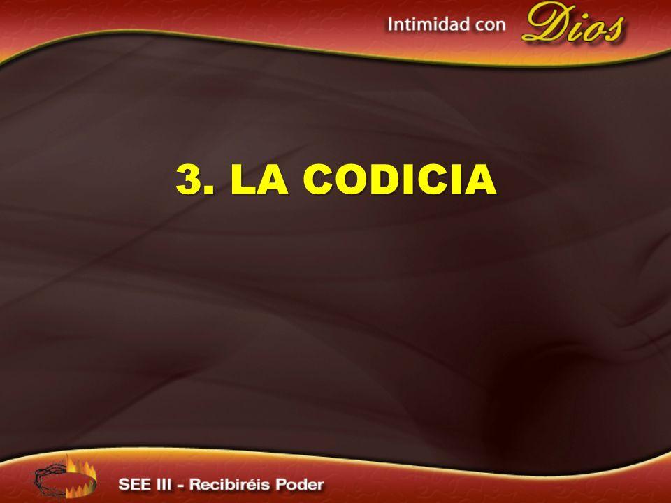 3. LA CODICIA