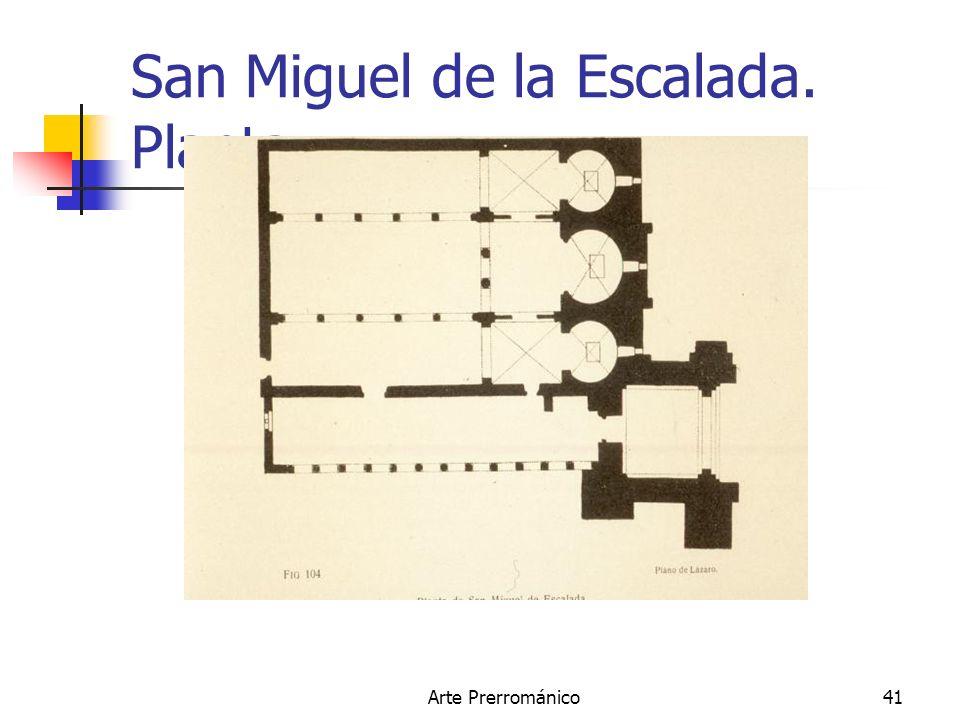 Arte Prerrománico41 San Miguel de la Escalada. Planta.