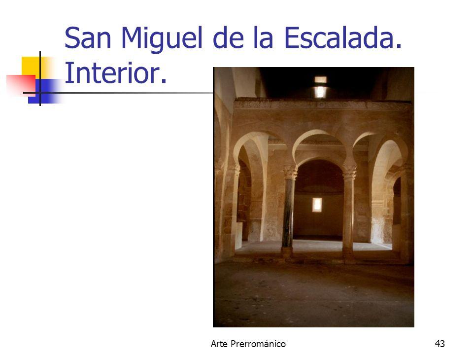 Arte Prerrománico43 San Miguel de la Escalada. Interior.