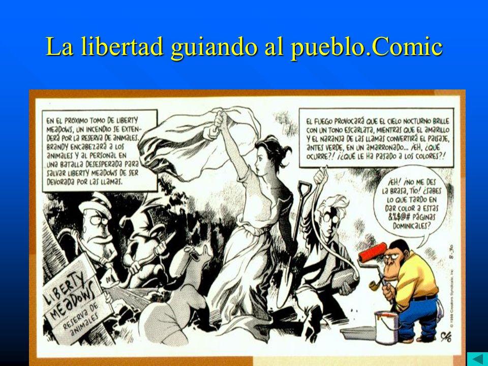 E. Delacroix.La libertad guiando al pueblo