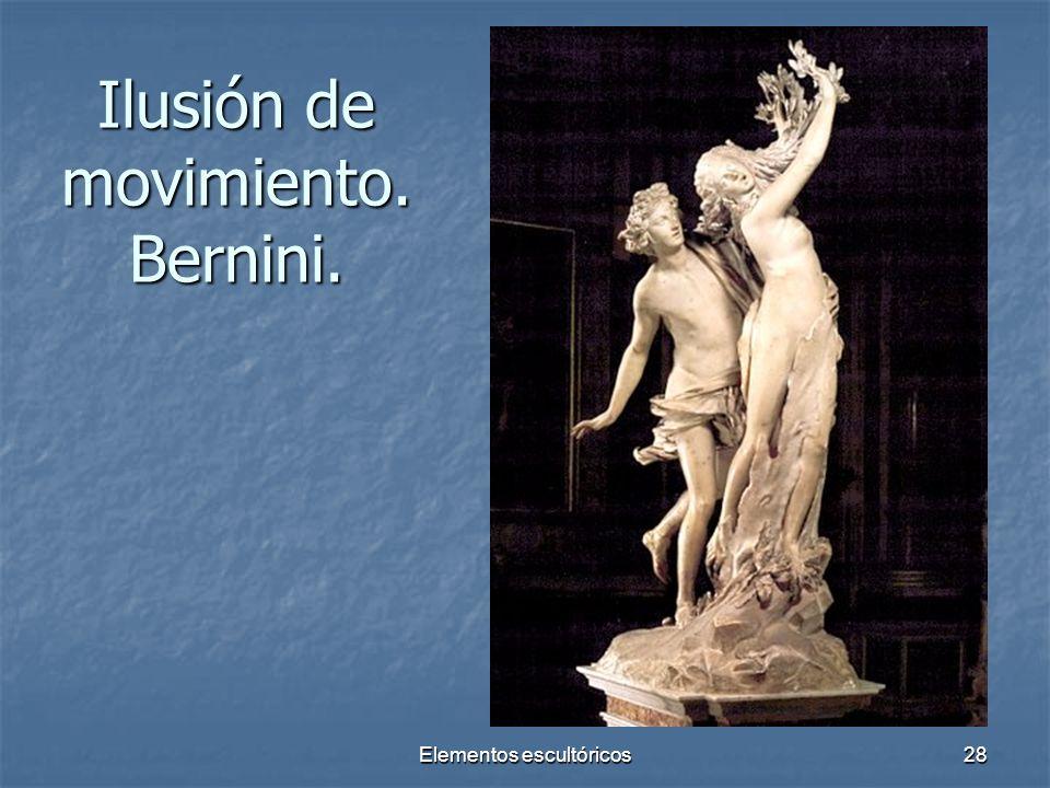 Elementos escultóricos28 Ilusión de movimiento. Bernini.