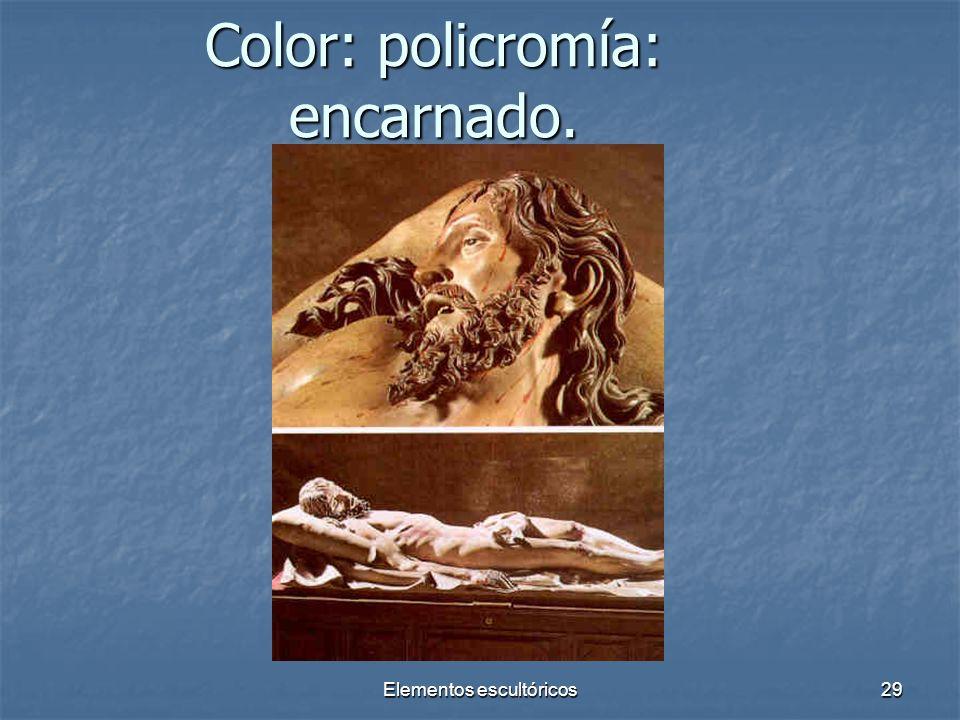 Elementos escultóricos29 Color: policromía: encarnado.