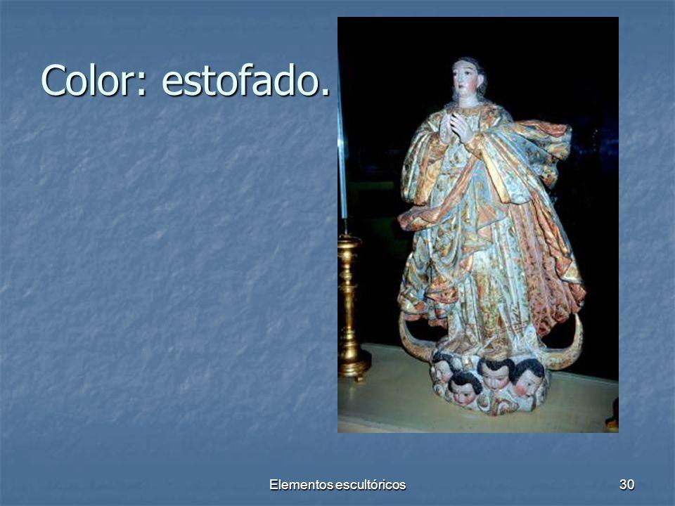 Elementos escultóricos30 Color: estofado.