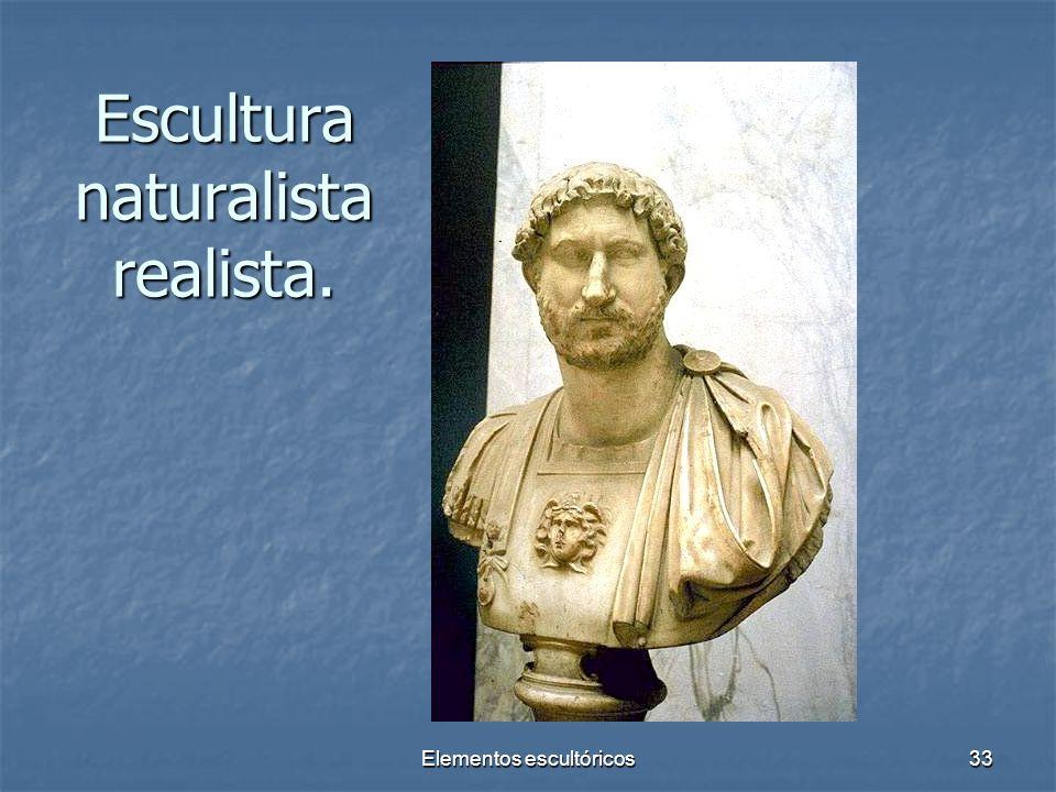 Elementos escultóricos33 Escultura naturalista realista.