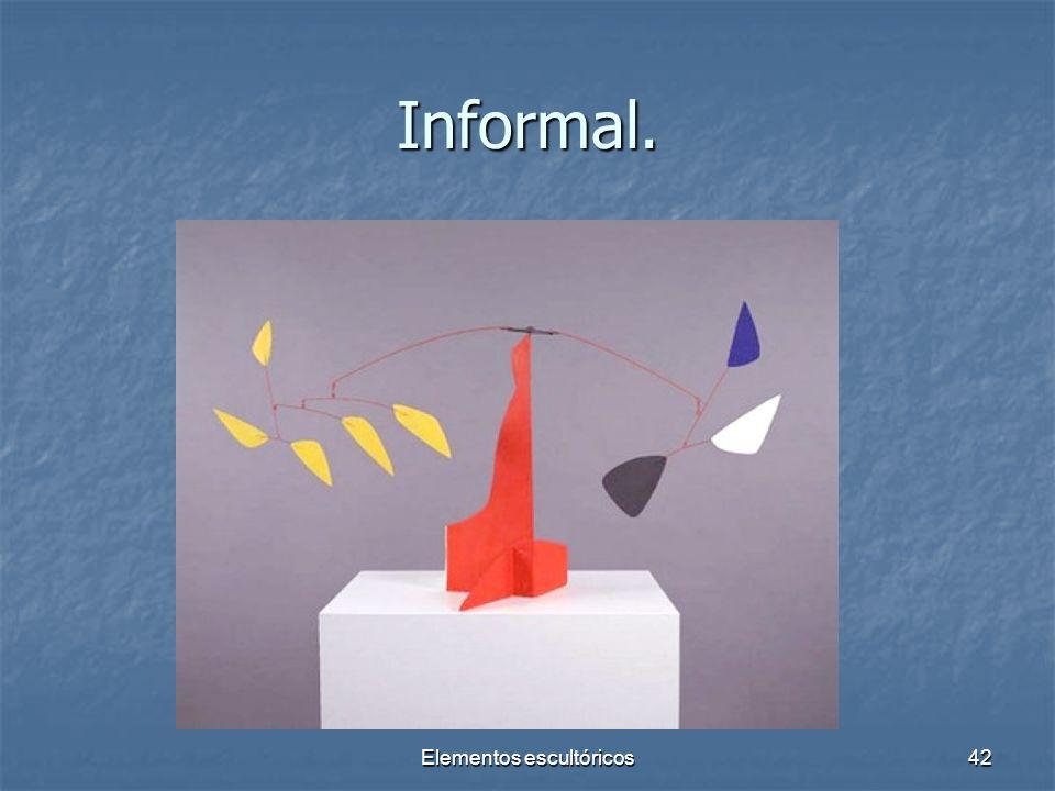 Elementos escultóricos42 Informal.