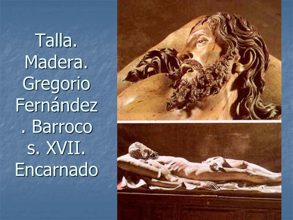 Elementos escultóricos5 Talla. Madera. Gregorio Fernández. Barroco s. XVII. Encarnado