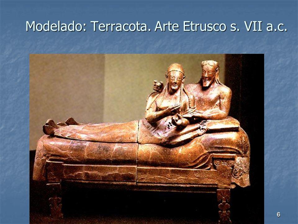 Elementos escultóricos6 Modelado: Terracota. Arte Etrusco s. VII a.c.