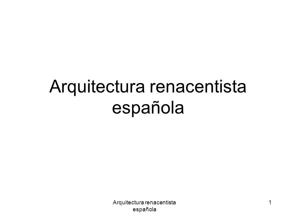 Arquitectura renacentista española 1