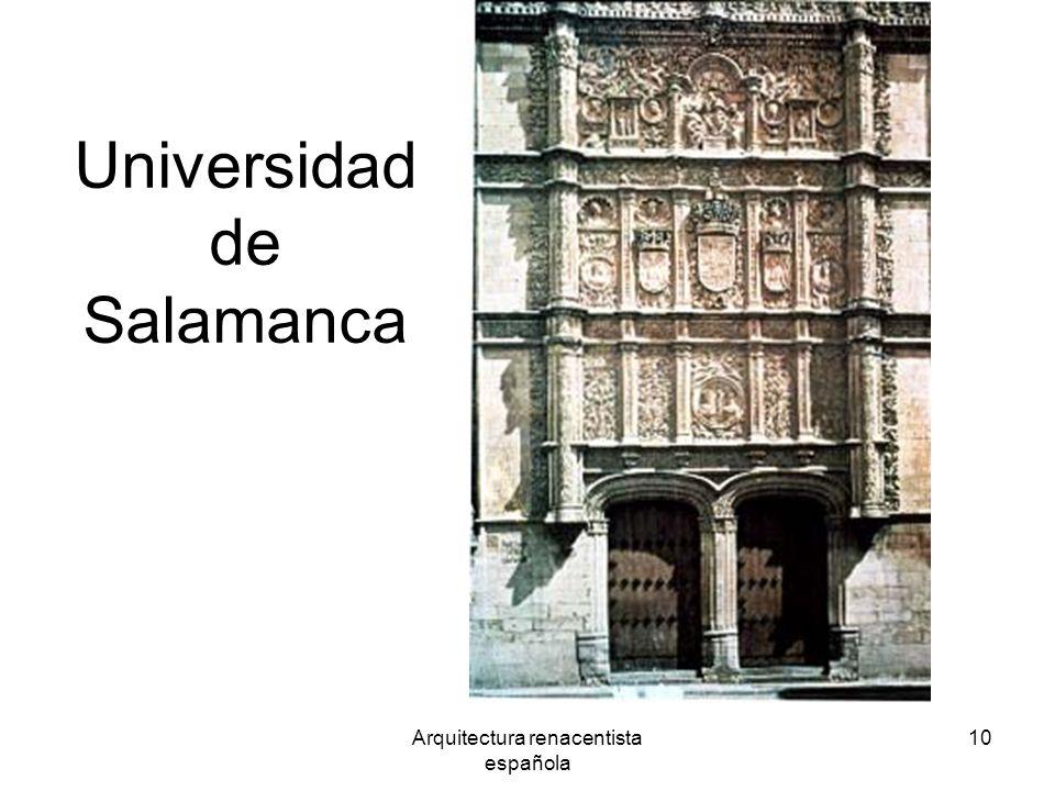 Arquitectura renacentista española 10 Universidad de Salamanca