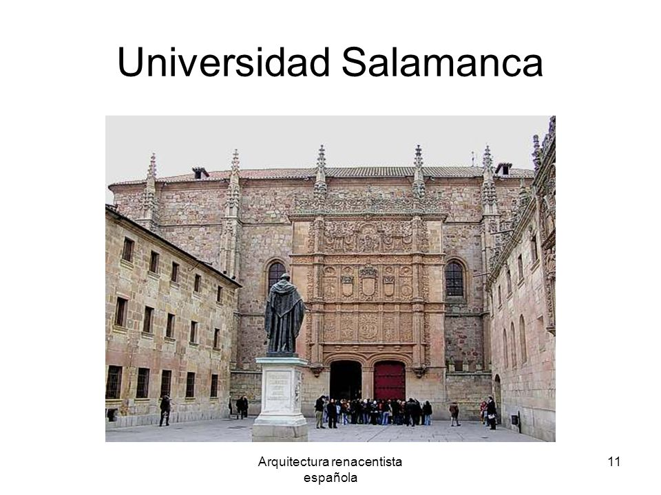 Arquitectura renacentista española 11 Universidad Salamanca