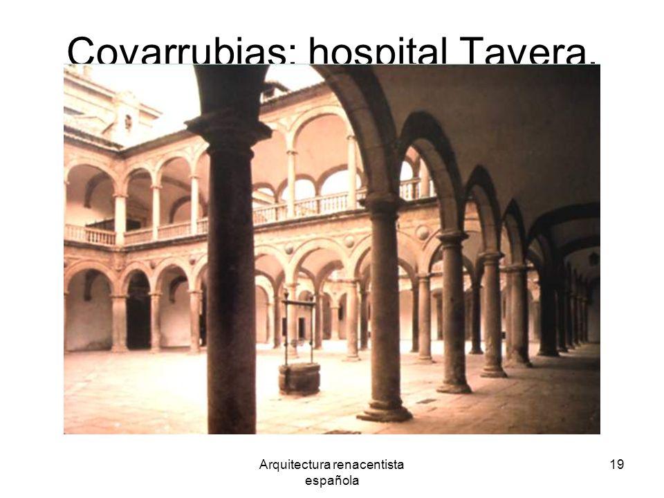 Arquitectura renacentista española 19 Covarrubias: hospital Tavera.