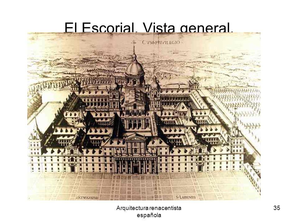 Arquitectura renacentista española 35 El Escorial. Vista general.