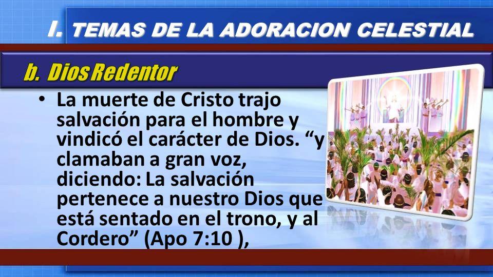La muerte de Cristo trajo salvación para el hombre y vindicó el carácter de Dios. y clamaban a gran voz, diciendo: La salvación pertenece a nuestro Di