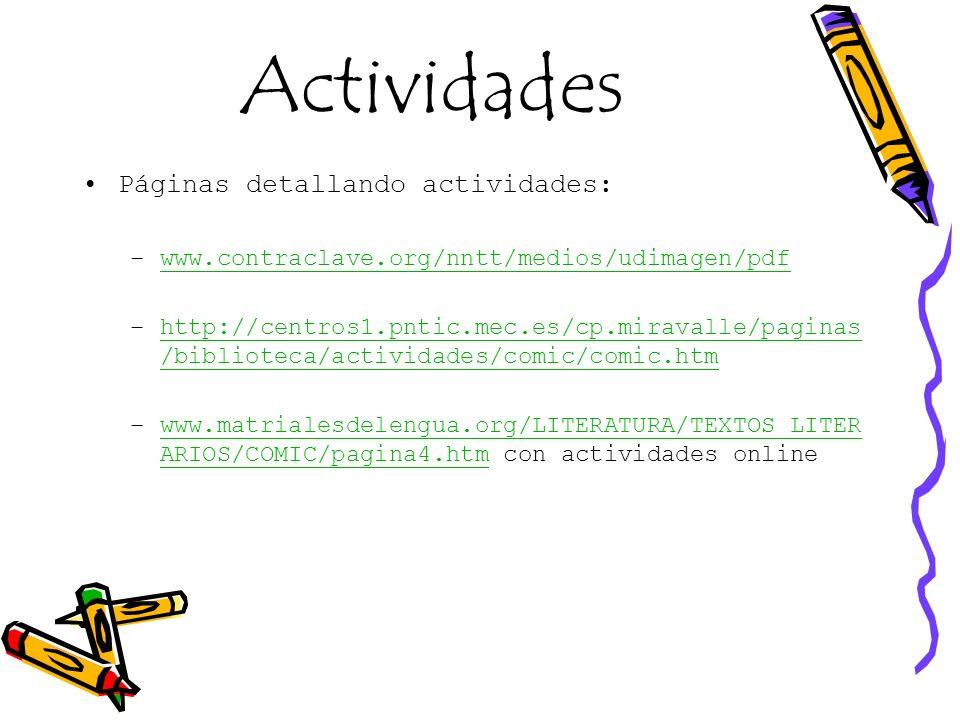 Actividades Páginas detallando actividades: –www.contraclave.org/nntt/medios/udimagen/pdfwww.contraclave.org/nntt/medios/udimagen/pdf –http://centros1