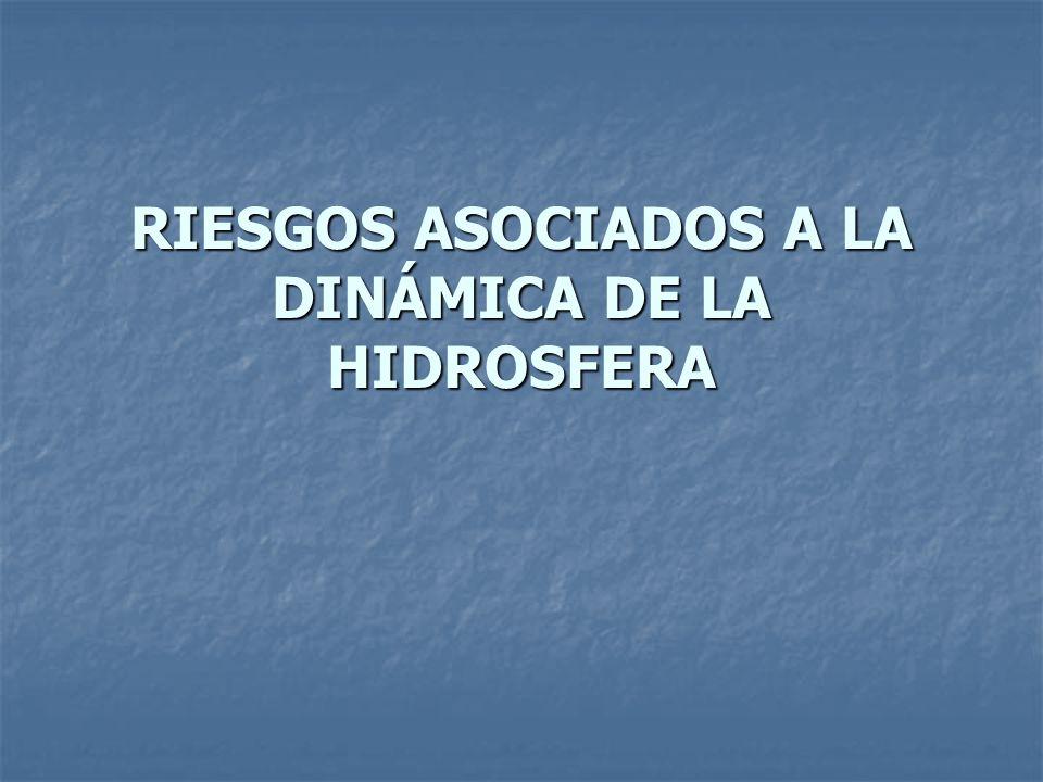 RIESGOS ASOCIADOS A LA DINÁMICA DE LA HIDROSFERA