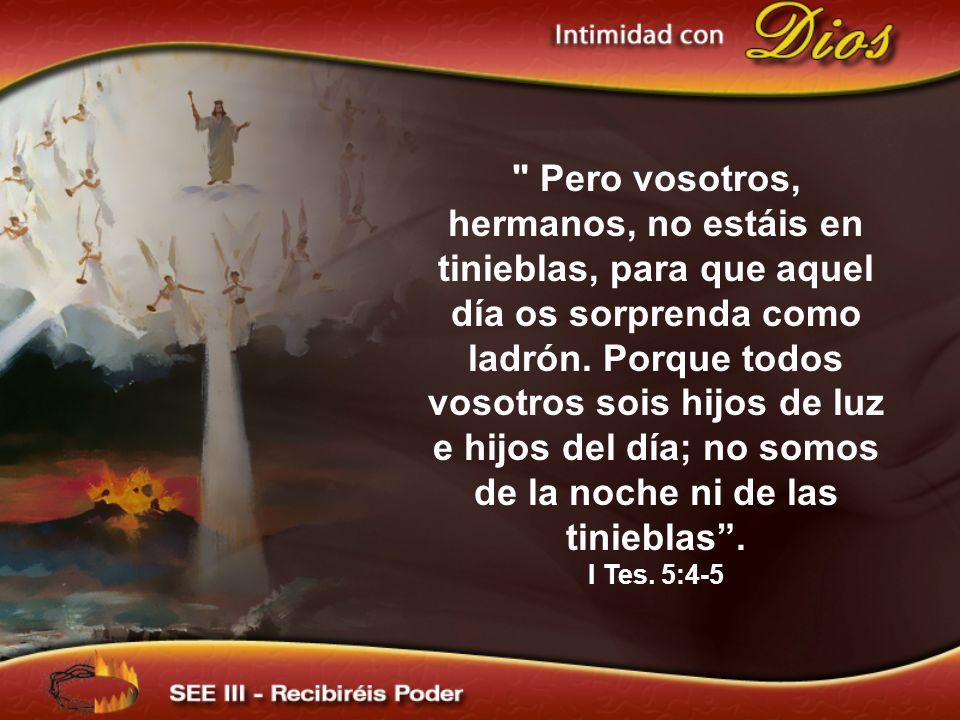 porque vosotros sabéis perfectamente que el día del Señor vendrá así como ladrón en la noche.