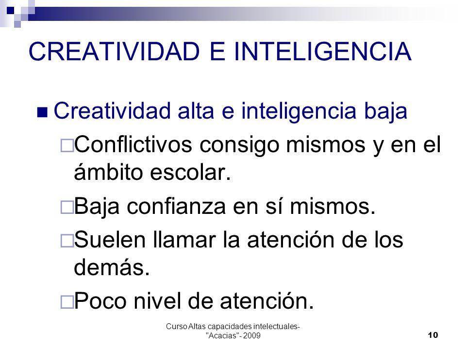 Curso Altas capacidades intelectuales-