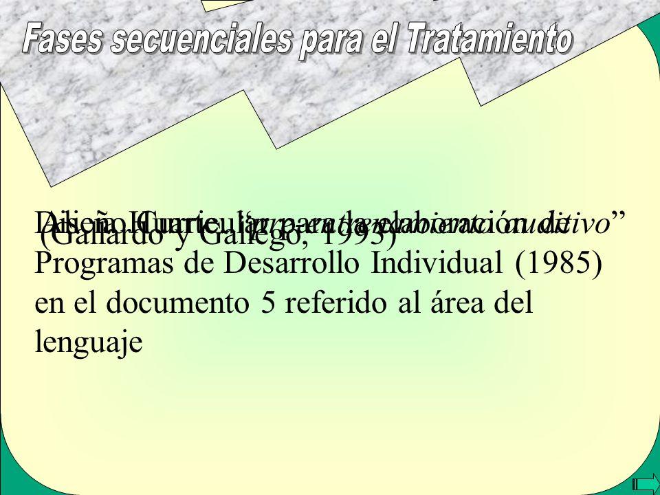 Alicia Huarte:pre-entrenamiento auditivo Diseño Curricular para la elaboración de Programas de Desarrollo Individual (1985) en el documento 5 referido