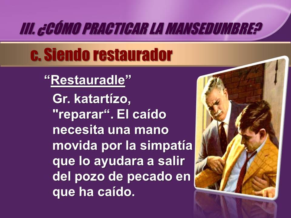 RestauradleRestauradle Gr. katartízo,