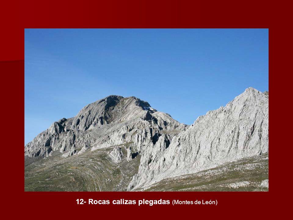 12- Rocas calizas plegadas (Montes de León)