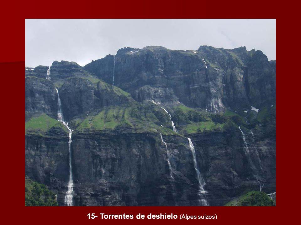 15- Torrentes de deshielo (Alpes suizos)