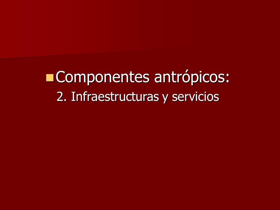 Componentes antrópicos: Componentes antrópicos: 2. Infraestructuras y servicios