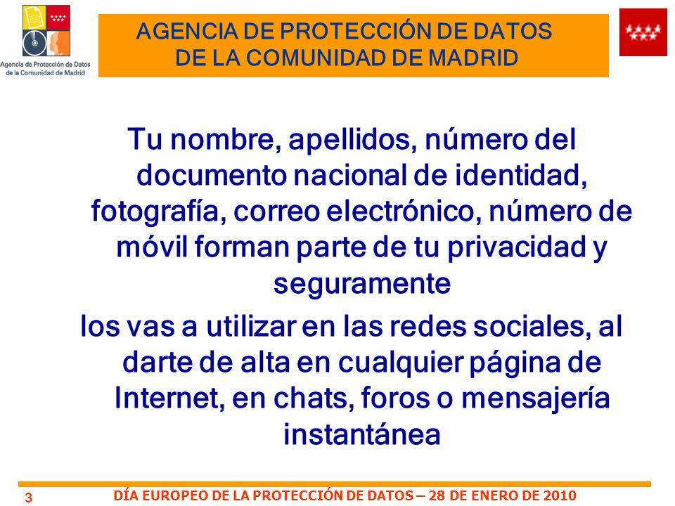DÍA EUROPEO DE LA PROTECCIÓN DE DATOS – 28 DE ENERO DE 2010