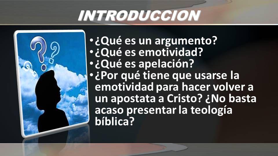 INTRODUCCION Planteamiento del problema: ¿Por qué Pablo hizo una apelación teológica y otra personal?