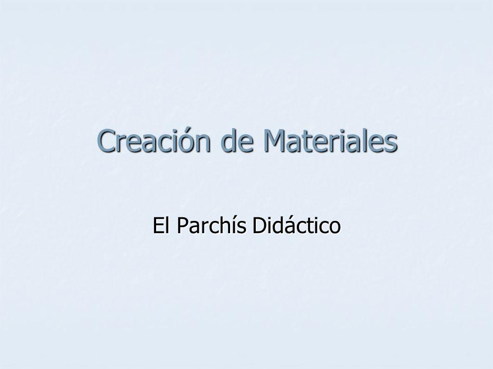 Creación de Materiales El Parchís Didáctico