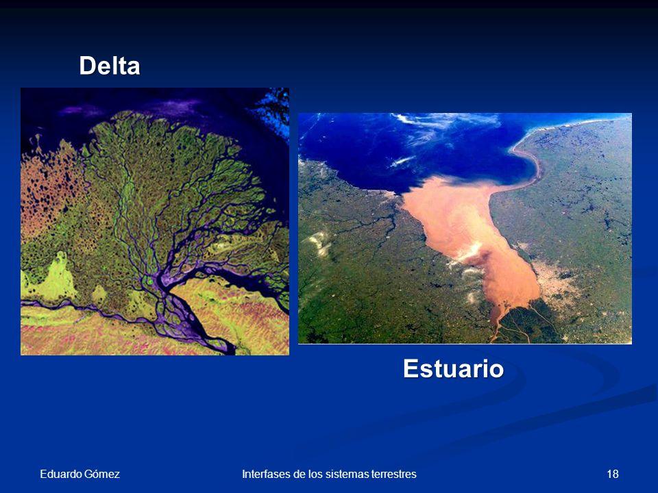 Eduardo Gómez 18Interfases de los sistemas terrestres Delta Estuario