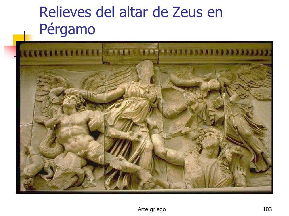 Arte griego103 Relieves del altar de Zeus en Pérgamo