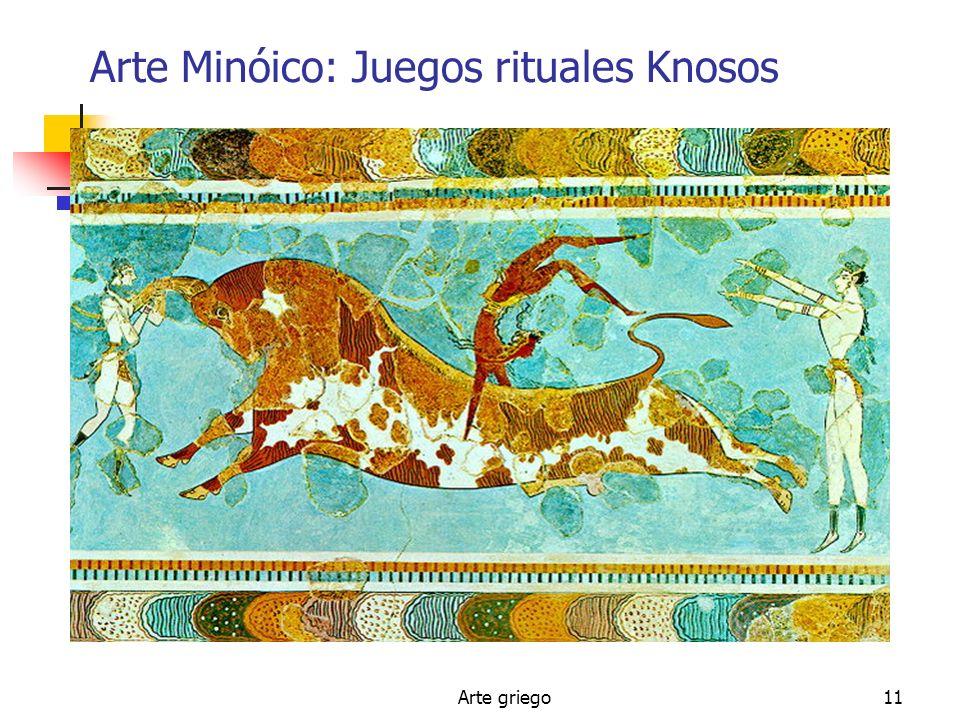 Arte griego11 Arte Minóico: Juegos rituales Knosos