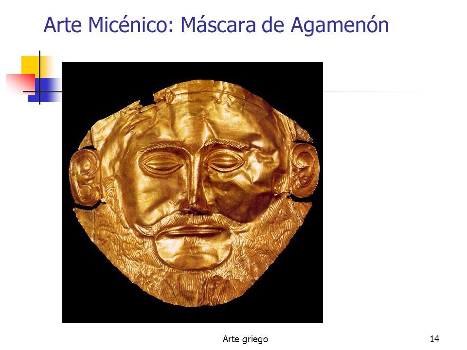 Arte griego14 Arte Micénico: Máscara de Agamenón