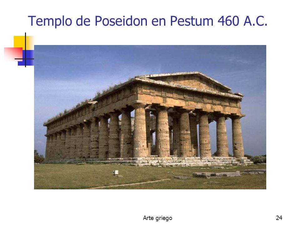 Arte griego24 Templo de Poseidon en Pestum 460 A.C.