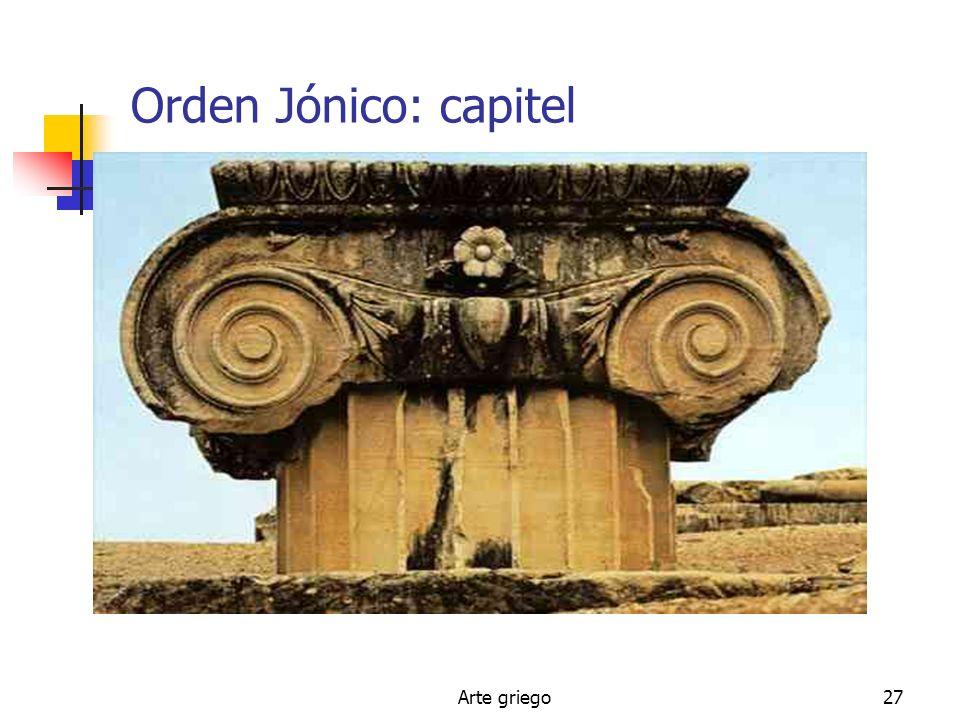 Arte griego27 Orden Jónico: capitel