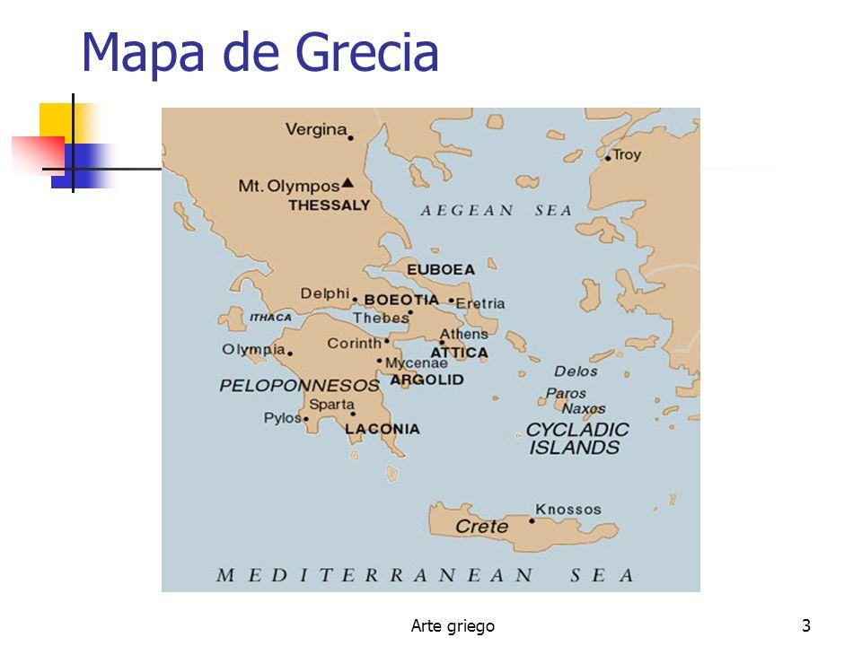 Arte griego3 Mapa de Grecia