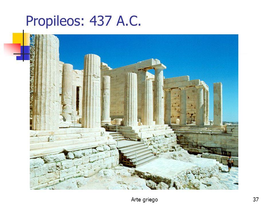 Arte griego37 Propileos: 437 A.C.