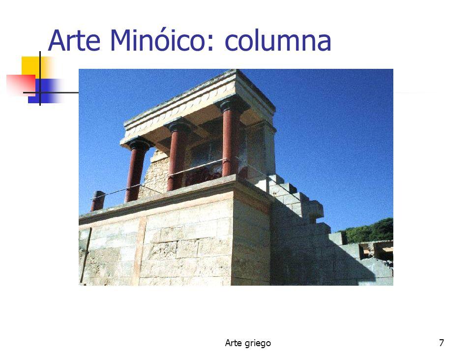 Arte griego7 Arte Minóico: columna