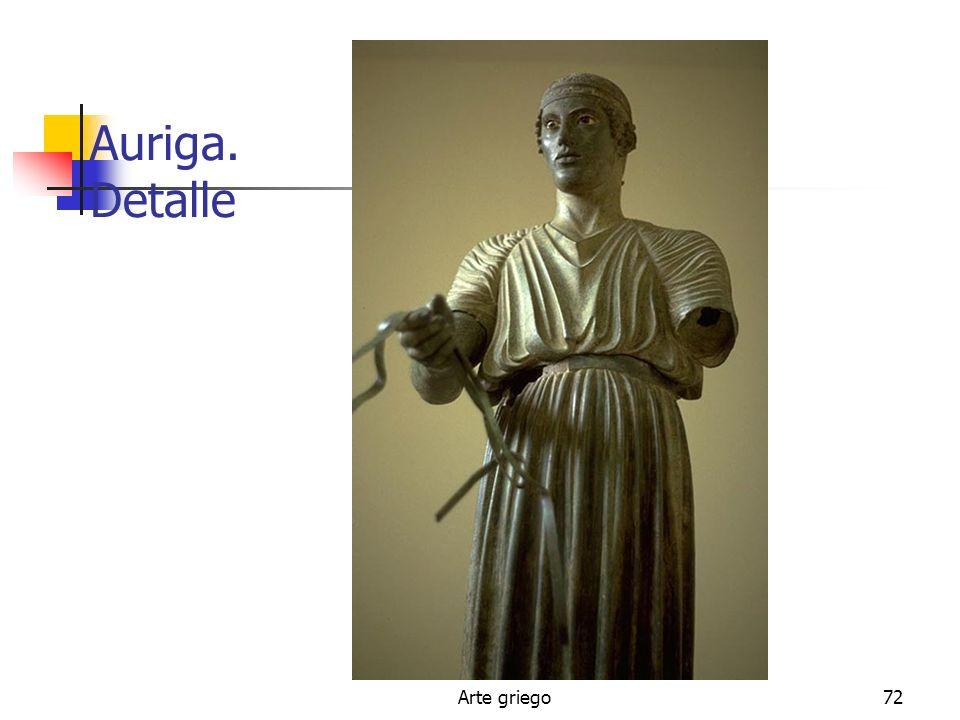 Arte griego72 Auriga. Detalle