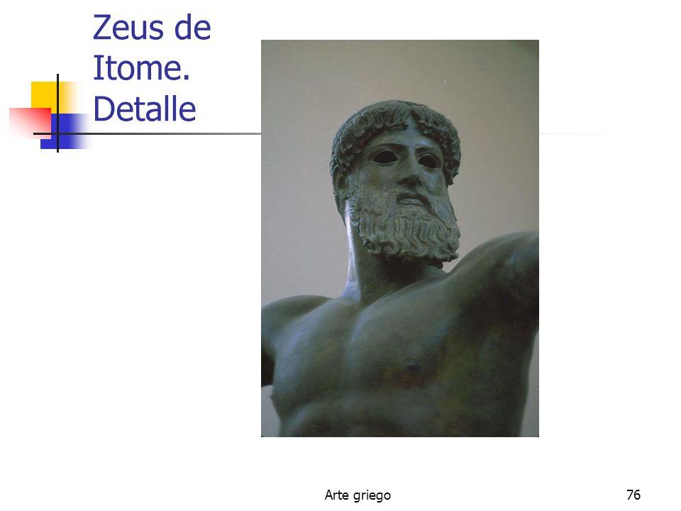 Arte griego76 Zeus de Itome. Detalle