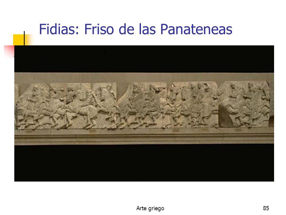 Arte griego85 Fidias: Friso de las Panateneas