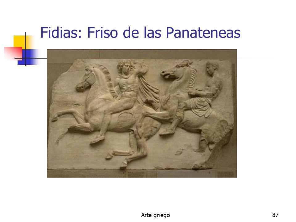Arte griego87 Fidias: Friso de las Panateneas