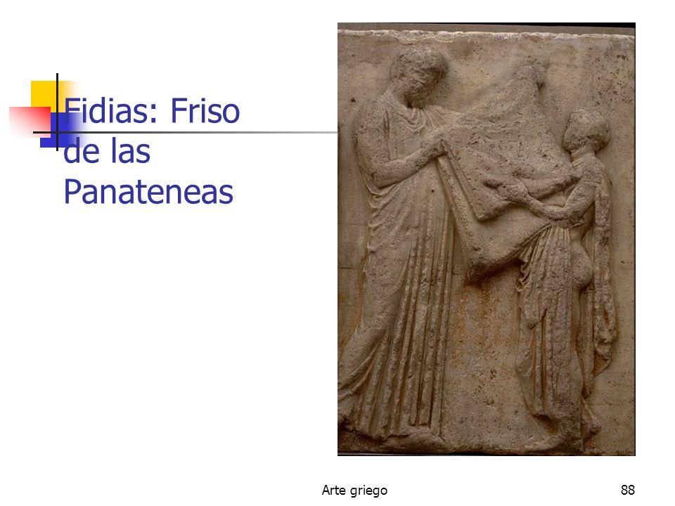 Arte griego88 Fidias: Friso de las Panateneas