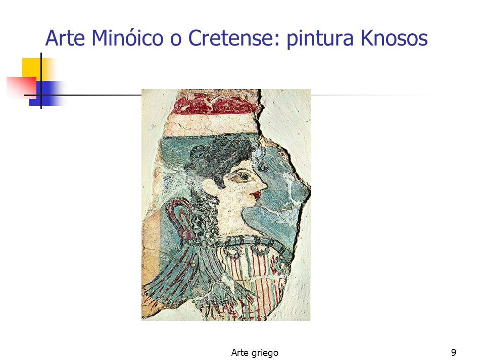 Arte griego9 Arte Minóico o Cretense: pintura Knosos